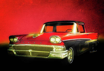 1958 Ford Ranchero 1st Generation Art Print