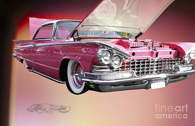 Photograph - 1958 Pink Buick by Melissa Messick