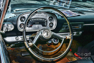 Photograph - 1958 Plymouth Belvidere Steering Wheel by Paul Ward