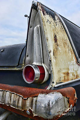 Photograph - 1958 Plymouth Belvidere Tailfins by Paul Ward