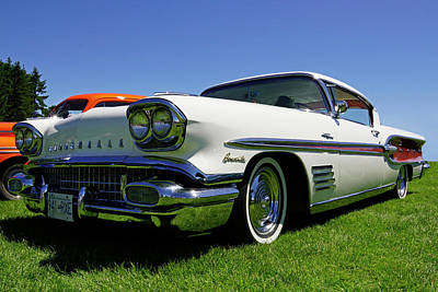 Photograph - 1958 Pontiac Bonneville by Inge Riis McDonald