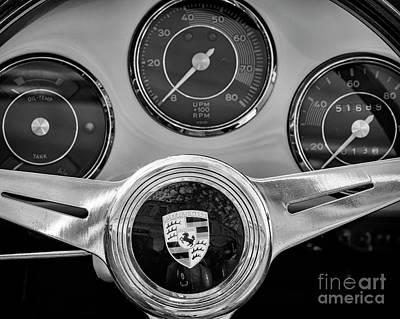 Photograph - 1958 Porsche Steering by Dennis Hedberg
