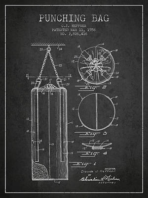 Striking Bag Digital Art - 1958 Punching Bag Patent Spbx14_cg by Aged Pixel