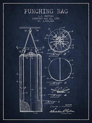 1958 Punching Bag Patent Spbx14_nb Art Print by Aged Pixel