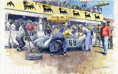 Painting - 1958 Targa Florio Porsche 718 Rsk Behra Scarlatti 2 Place by Yuriy Shevchuk