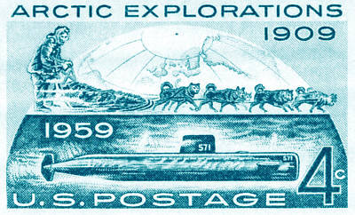Painting - 1959 Arctic Explorations by Historic Image