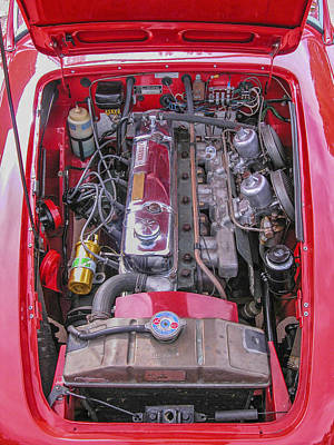 Photograph - 1959 Austin Healey 3000 Engine View by Alan Toepfer