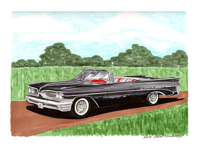 Platform Painting - 1959 Bonneville Land Yacht by Jack Pumphrey
