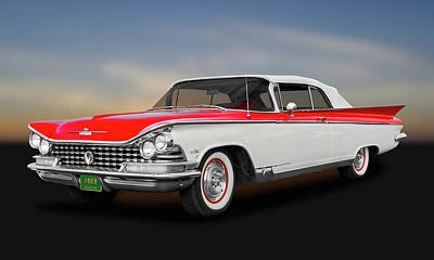 Photograph - 1959 Buick Electra 225 Convertible  -  1959buick225elec9712 by Frank J Benz
