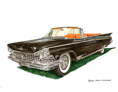 Painting - 1959 Buick Electra 225 Convertible by Jack Pumphrey