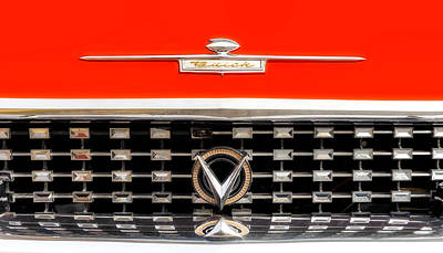 Photograph - 1959 Buick Electra 225 Hood-grille Ornaments - 59buhdorn1 by Frank J Benz