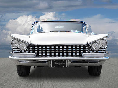 Photograph - 1959 Buick Grille And Headlights by Gill Billington
