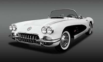 Photograph - 1959 C1 Chevrolet Corvette  -  1959c1vettecvfa141990 by Frank J Benz