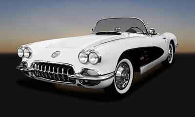 Photograph - 1959 C1 Chevrolet Corvette  -  1959corvetteconvertible141900. by Frank J Benz