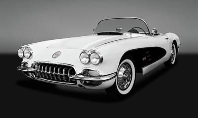 Photograph - 1959 C1 Chevrolet Corvette  -  1959vetteconvertiblegry141990 by Frank J Benz