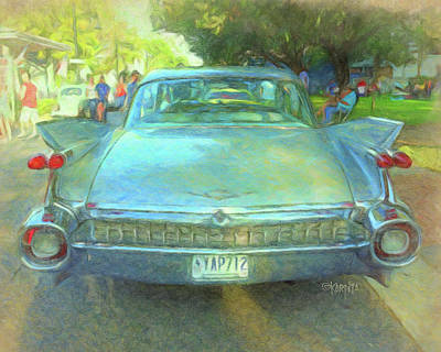 Digital Art - 1959 Cadillac Classic Car by Rebecca Korpita
