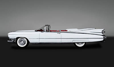 Photograph - 1959 Cadillac Eldorado Biarritz Convertible  -  59caddyeldoradogry171882 by Frank J Benz