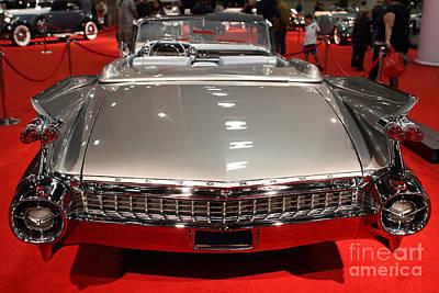 1959 Cadillac Eldorado Convertible . Rear View Print by Wingsdomain Art and Photography