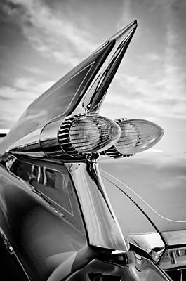 1959 Cadillac Eldorado Taillight- Pink Art Print by Jill Reger