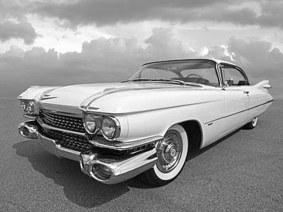 Photograph - 1959 Cadillac In Black And White by Gill Billington