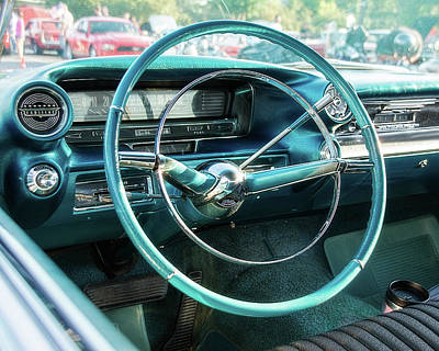 1959 Cadillac Sedan Deville Series 62 Dashboard Print by Jon Woodhams