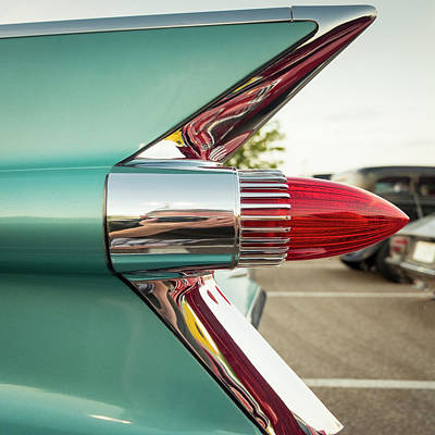 Caddy Photograph - 1959 Cadillac Sedan Deville Series 62 Tail Fin by Jon Woodhams
