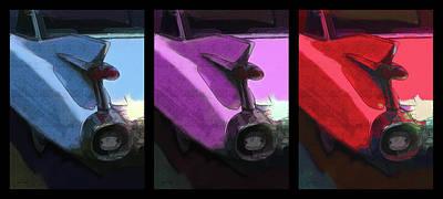 Digital Art - 1959 Cadillac Tailfin Triple by David King