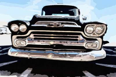 Photograph - 1959 Chevrolet Apache 31 Pop Art by Steven Green
