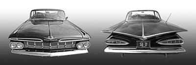 Photograph - 1959 Chevrolet Impala Front And Rear by Gill Billington