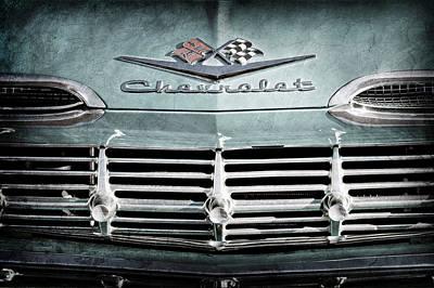 Photograph - 1959 Chevrolet Impala Grille Emblem -1014ac by Jill Reger