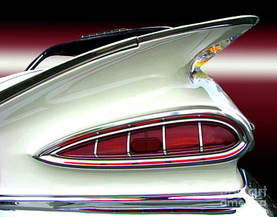 1959 Chevrolet Impala Tail Art Print by Peter Piatt