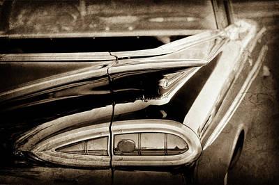 1959 Chevrolet Impala Taillight -0418s Art Print by Jill Reger
