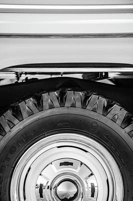 1959 Chevrolet Photograph - 1959 Chevrolet Napco Fleetside Wheel -1583bw by Jill Reger