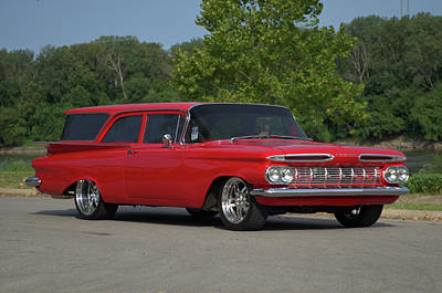 Photograph - 1959 Chevrolet Station Wagon by TeeMack