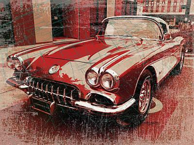 Photograph - 1959 Corvette Convertible Classic Car by Rebecca Korpita