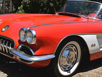 Photograph - 1959 Corvette Nipomo California by Floyd Snyder