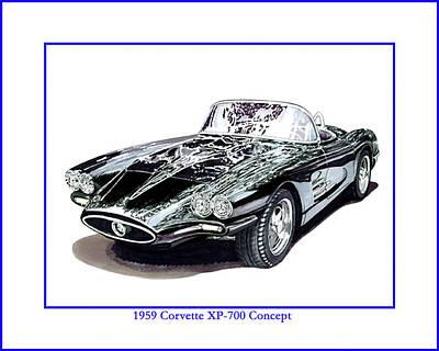 Painting - 1959 Corvette Xp-700 Concept by Jack Pumphrey