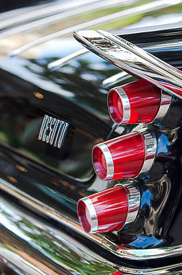 Art Print featuring the photograph 1959 Desoto Adventurer Hardtop Coupe 2-door Taillight Emblem by Jill Reger