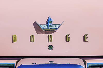 Coronet Photograph - 1959 Dodge Coronet Emblem -0916c by Jill Reger