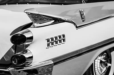 Coronet Photograph - 1959 Dodge Coronet Tail Lights -0928bw by Jill Reger