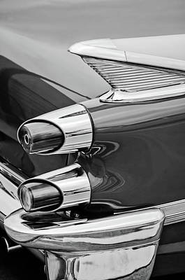 Photograph - 1959 Dodge Custom Royal Super D 500 Taillight -0233bw by Jill Reger