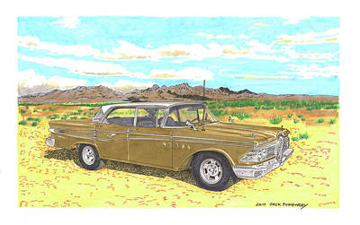 Painting - 1959 Edsel Corsair by Jack Pumphrey