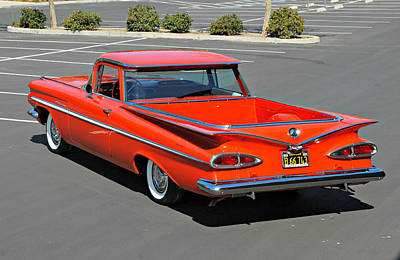 Photograph - 1959 El Camino In Red by Steve Natale