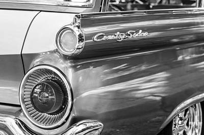 Photograph - 1959 Ford Country Sedan Tail Light -319bw by Jill Reger