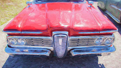 Photograph - 1959 Ford Edsel Villager Station Wagon by Rich Franco