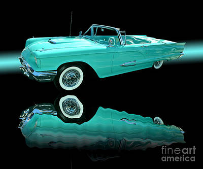 1959 Ford Thunderbird Art Print by Jim Carrell
