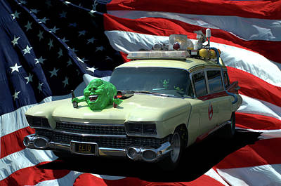 Photograph - 1959 Ghostbusters Cadillac Ambulance by Tim McCullough