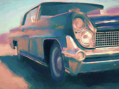 Digital Art - 1959 Lincoln Continental by David King
