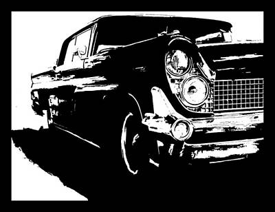Digital Art - 1959 Lincoln Continental Tee by David King