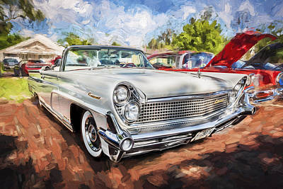 1959 Lincoln Continental Town Car Mk Iv Painted Art Print